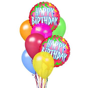 glitter birthday baloons fireworks